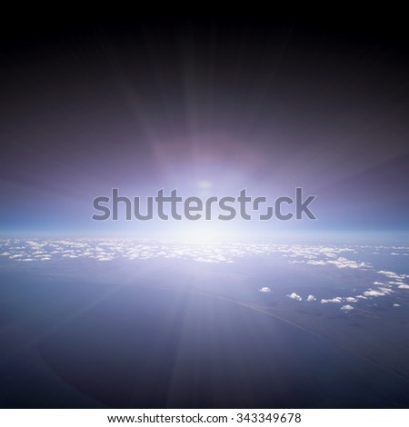 Earth. View from Airplane.  - stock photo