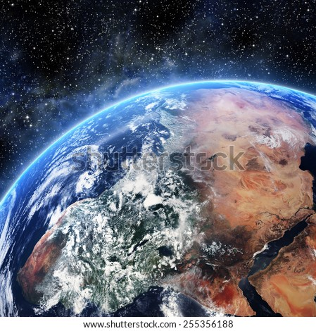 Earth. View from space. Elements of this image furnished by NASA - stock photo