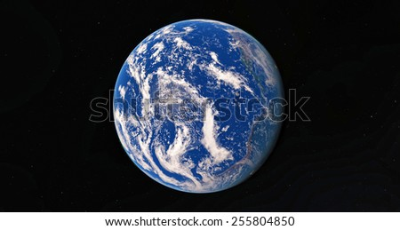 Earth. View from space.Elemets of this image furnished by NASA - stock photo