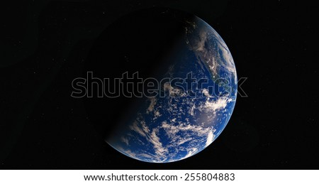 Earth. View from space.Elemets of this image furnished by NASA