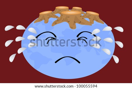 Earth without trees - stock photo