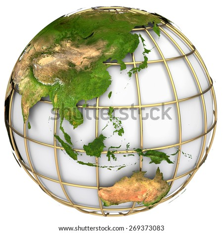 Earth world mapaustralia asia on planet stock illustration earth world mapstralia and asia on a planet globe the earth texture of gumiabroncs Image collections