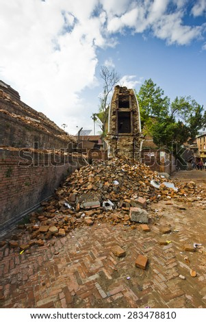 Earthquake in Nepal - stock photo