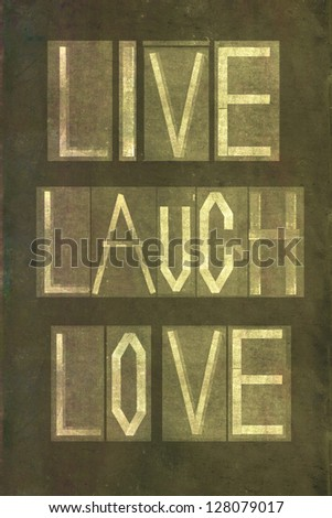 Live Love Laugh Stock Images, Royalty-Free Images ...