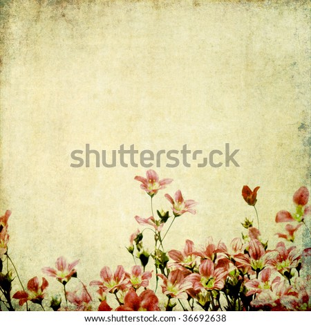earthy background image with floral elements. useful design element. - stock photo