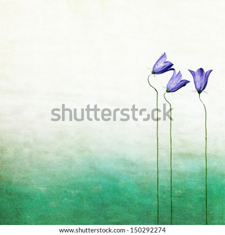 Earthy floral background and design element - stock photo