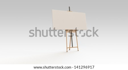 Easel and canvas board
