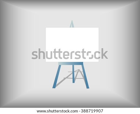 Easel icon on grey background
