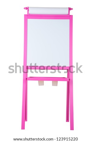 easel isolated with white background - stock photo