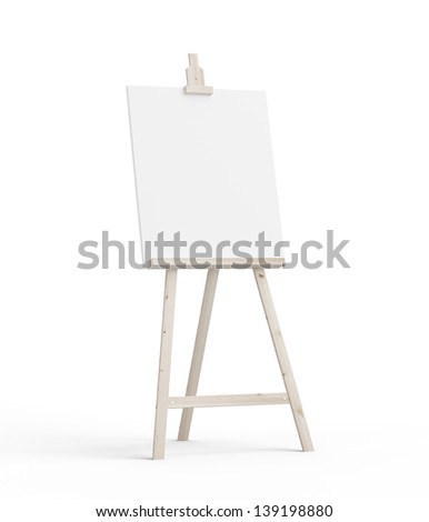 easel on a white background - stock photo