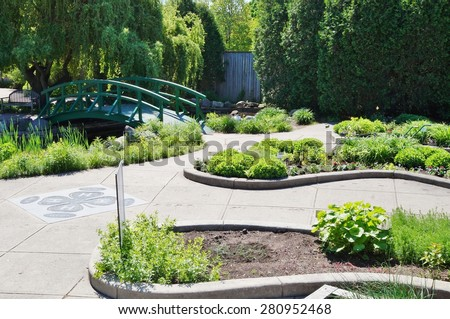 EAST LANSING, MI -22 MAY 2015- The 4-H Childrenâ??s Garden on the campus of Michigan State University (MSU) includes 56 individual themed gardens, including a train garden.