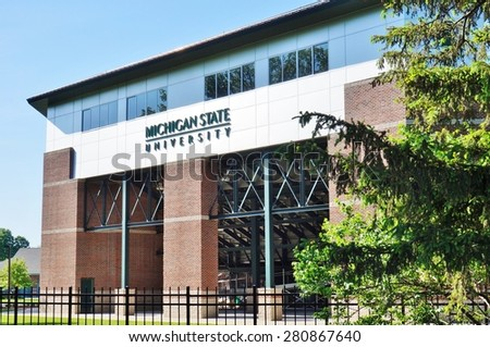 EAST LANSING, MI -22 MAY 2015- The Spartans play collegiate baseball at the McLane Baseball Stadium on the campus of Michigan State University (MSU) in East Lansing.