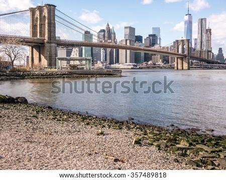 East River shore - stock photo