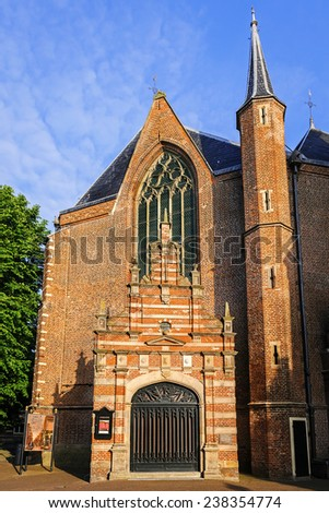 East side of the Westerkerk linking the eastern entrance portal, Enkhuizen, The Netherlands - stock photo