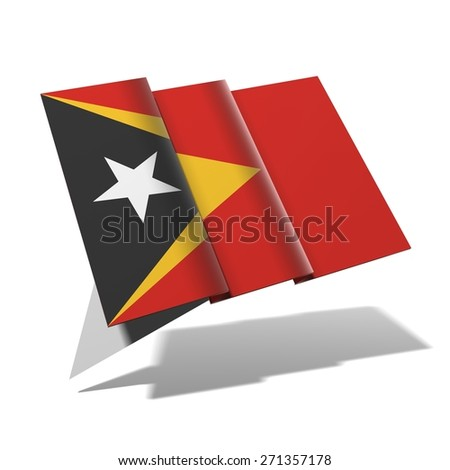 East Timor flag 3D banner - stock photo