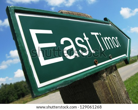 East Timor road sign