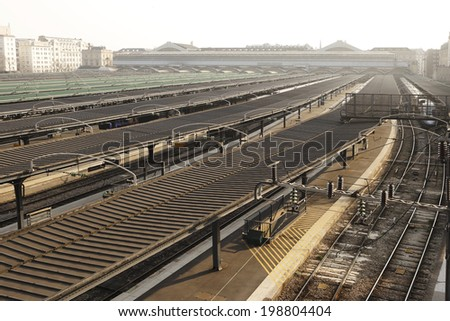 East train station Paris north view - stock photo