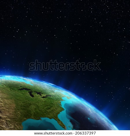 East USA. Elements of this image furnished by NASA
