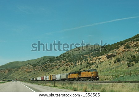 Eastbound Freight Train in Utah