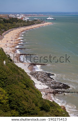 EASTBOURNE, EAST SUSSEX/UK - JUNE 3 : View of the promenade at Eastbourne on June 3, 2011. Unidentified people.