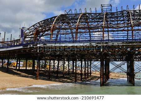 Eastbourne Pier in East Sussex after the fire.