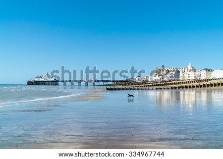Eastbourne town, near the seven sisters, south England, East Susex - stock photo