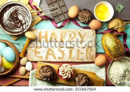 Easter baking  - stock photo