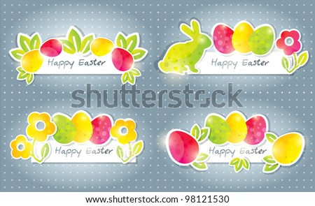 Easter banners - stock photo
