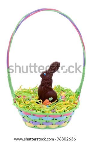 Easter basket - stock photo