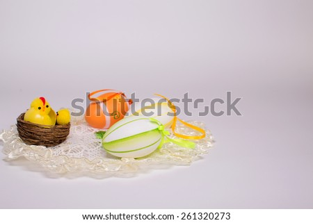 Easter basket with eggs and Easter
