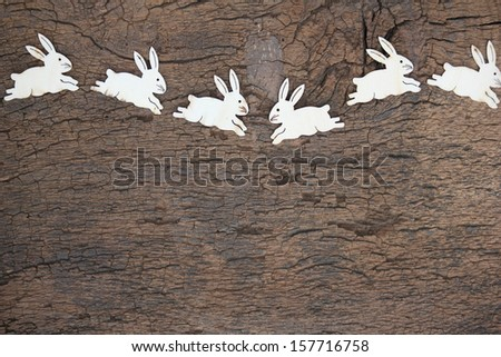 Easter bunny background - stock photo