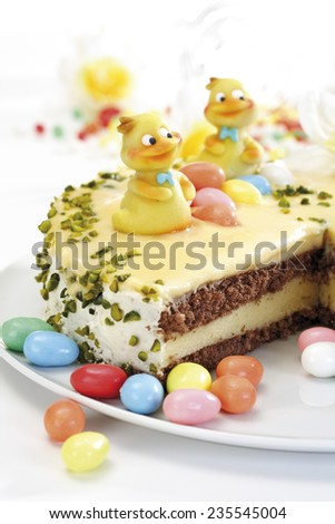 Easter cake, close-up - stock photo