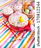 Easter cakes and easter egg - stock