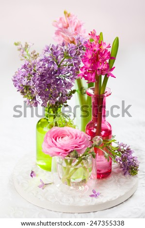 Easter candles - stock photo