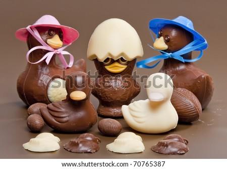 Easter chocolate - stock photo