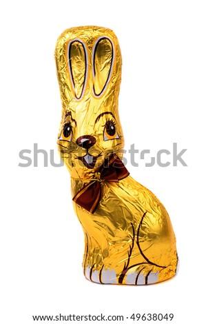 Easter chocolate bunny, - stock photo