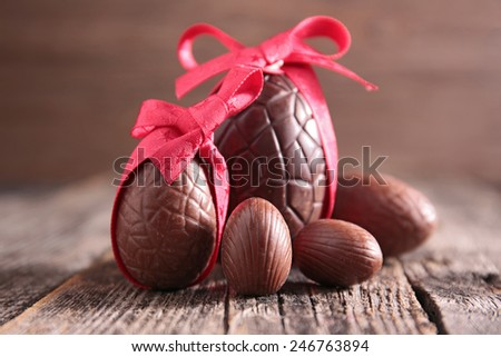easter chocolate egg - stock photo
