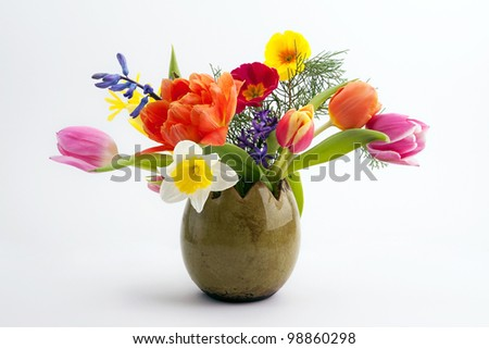 Easter composition - stock photo