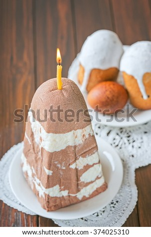 Easter cottage cheese dessert  - stock photo