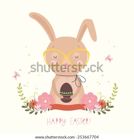 Easter Day background or card. - stock photo