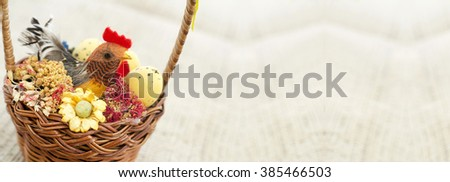 Easter decoration banner with copy space