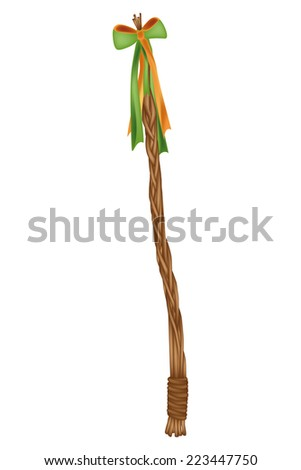 Easter decoration - czech whip - isolated - illustration - stock photo