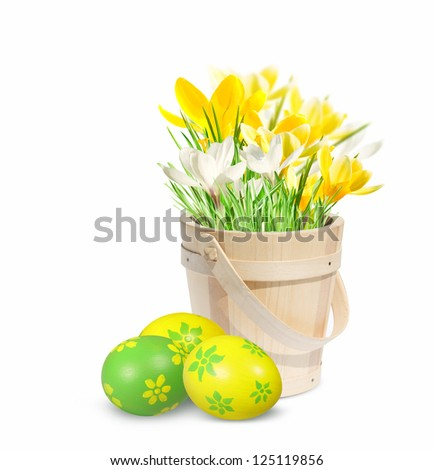 Easter decoration with Easter eggs.