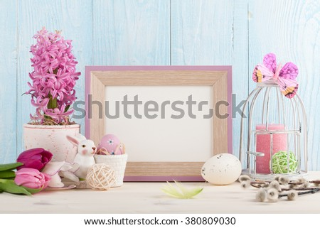 Easter decorations for Easter holiday - stock photo