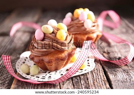 easter dessert - stock photo