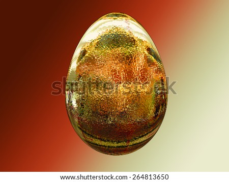 Easter egg abstract - stock photo