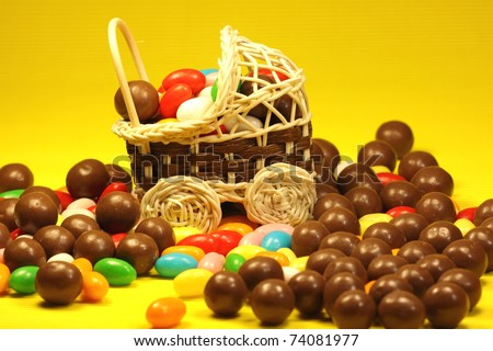 Easter egg candy - stock photo