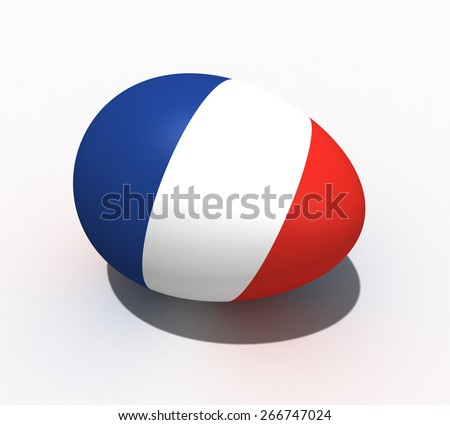 Easter egg with figure of a flag of France