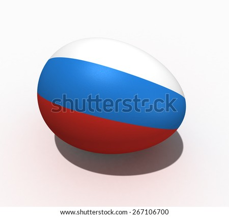 Easter egg with figure of a flag of Russia - stock photo