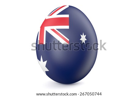 Easter egg with the flag of the Australia isolated on white background - stock photo
